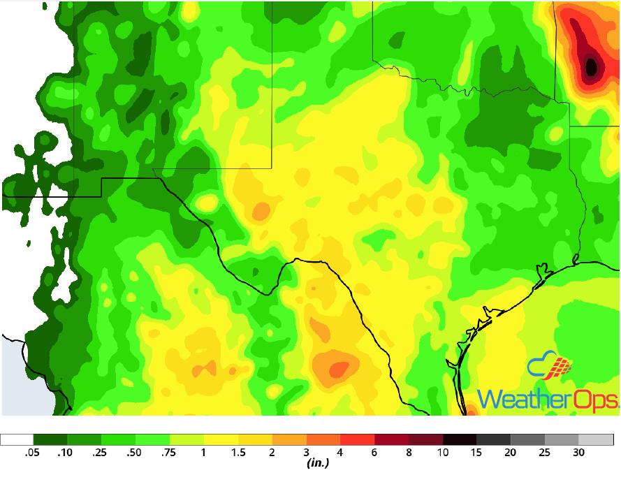 Rainfall Accumulation September 5-7, 2018
