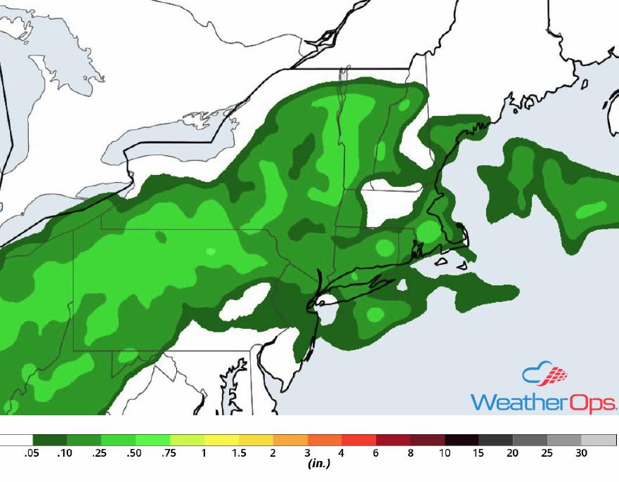 Rainfall Accumulation for Thursday, September 6, 2018