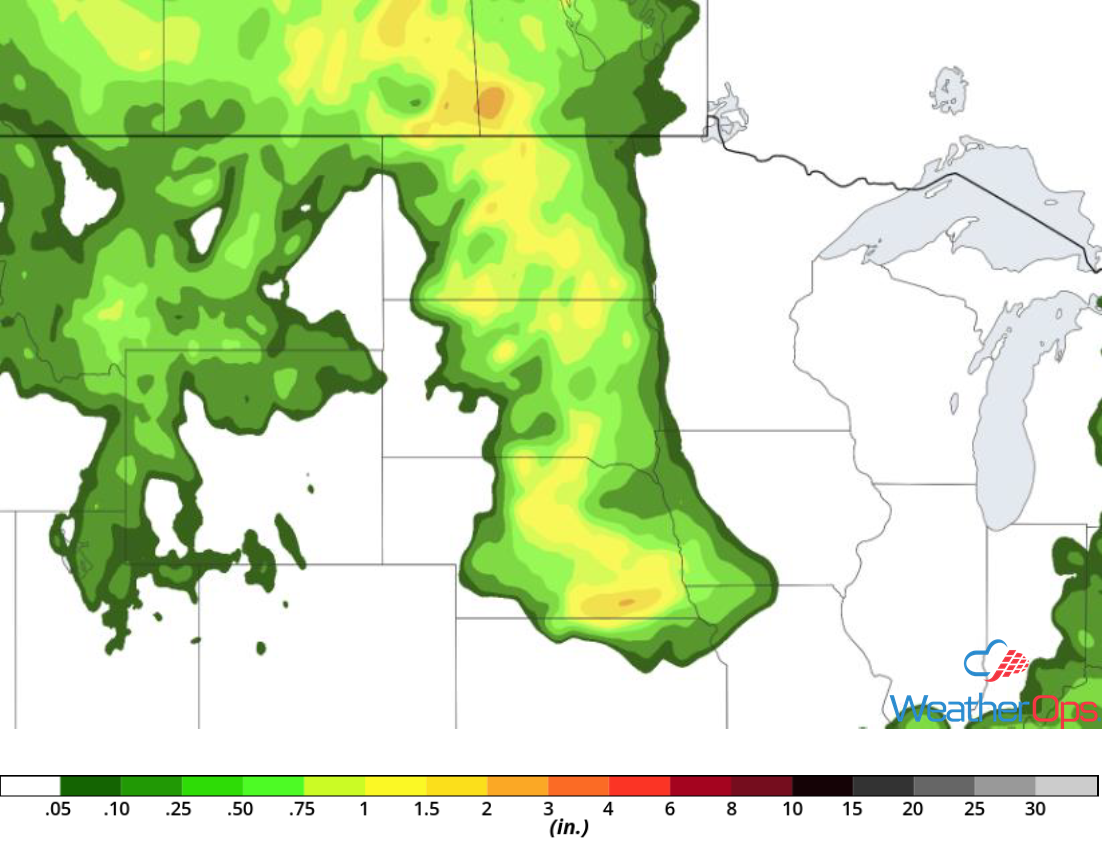 Rainfall Accumulation for Friday, June 1, 2018