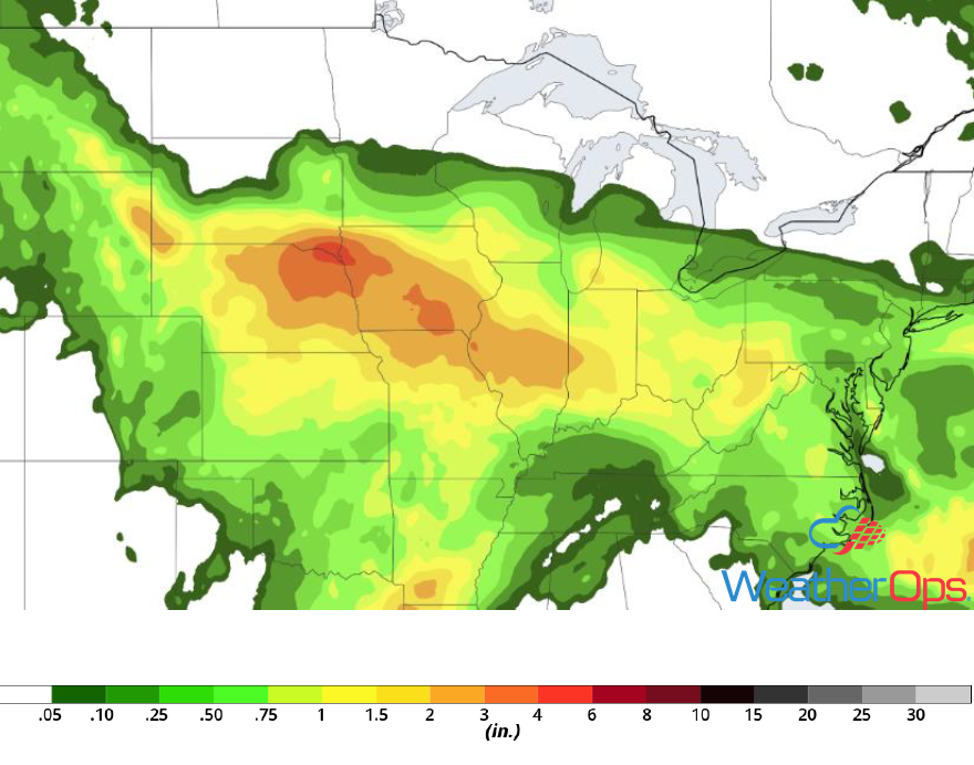 Rainfall Accumulation for June 19-20, 2018