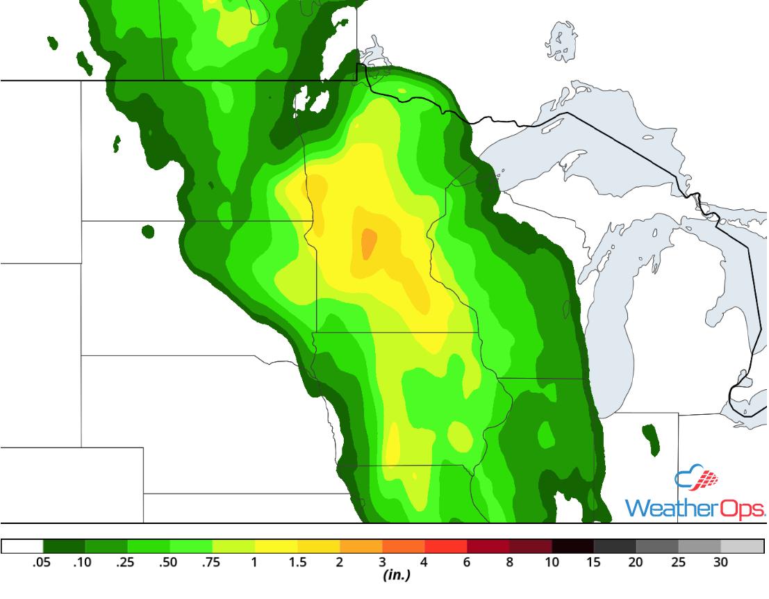 Rainfall Accumulation for Thursday, July 19, 2018