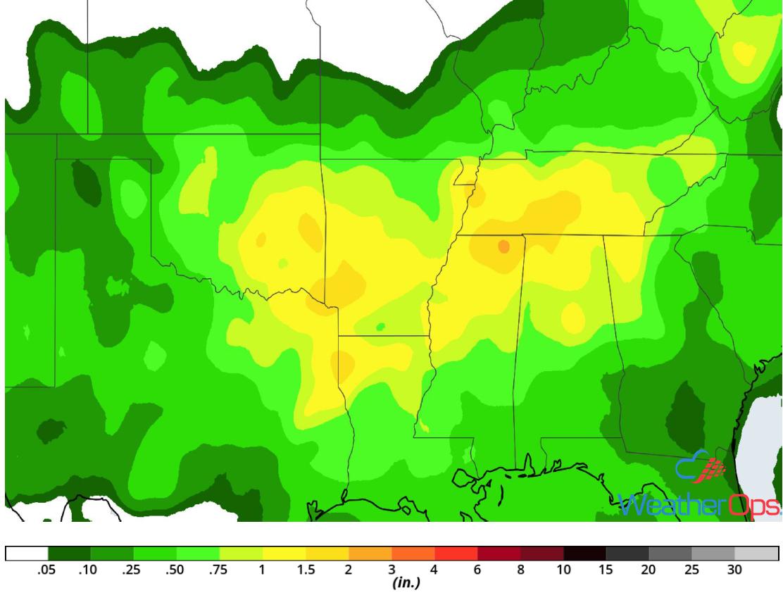 Rainfall Accumulation for August 8-9, 2018