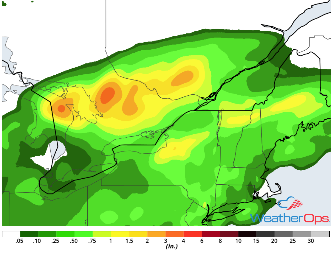 Rainfall Accumulation for Friday, August 17, 2018