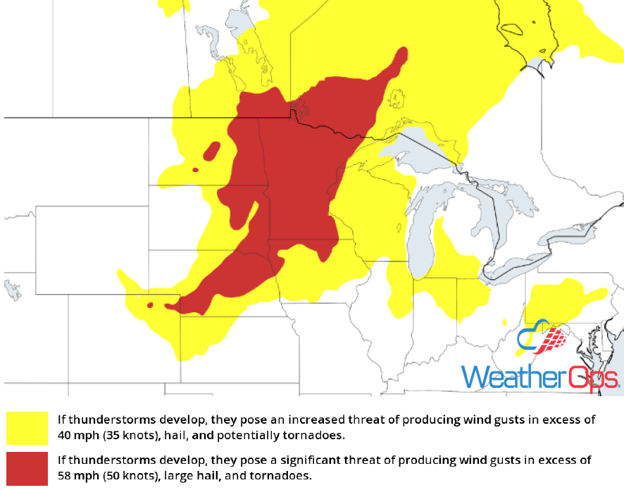 Thunderstorm Potential for July 4, 2018