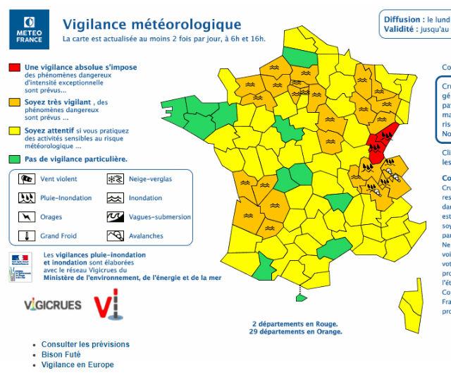 France Flood Alert