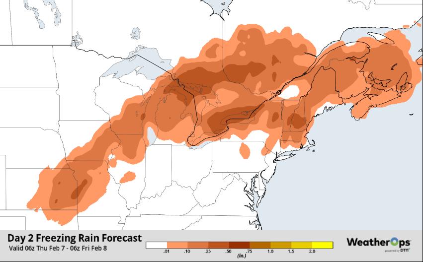 WeatherOps Freezing Rain Forecast