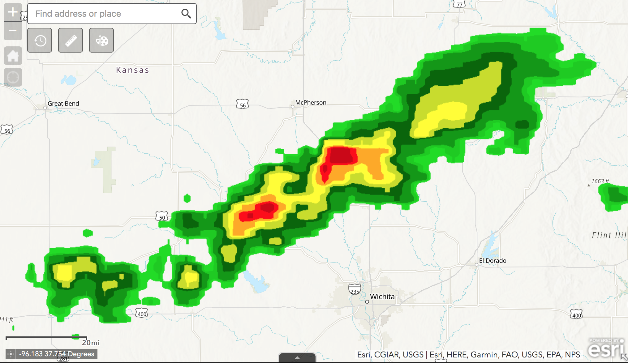 Modeling of Storms Using ArcGIS