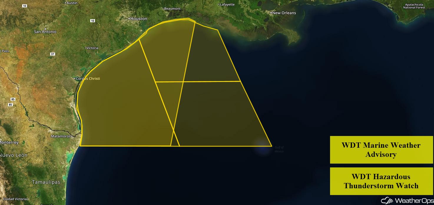 WDT Marine Weather Advisory and Hazardous Thunderstorm Watch 6/19/18