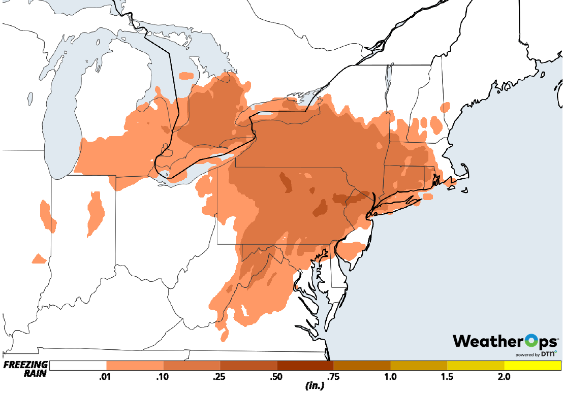 Freezing Rain Accumulation for Tuesday, February 12, 2019