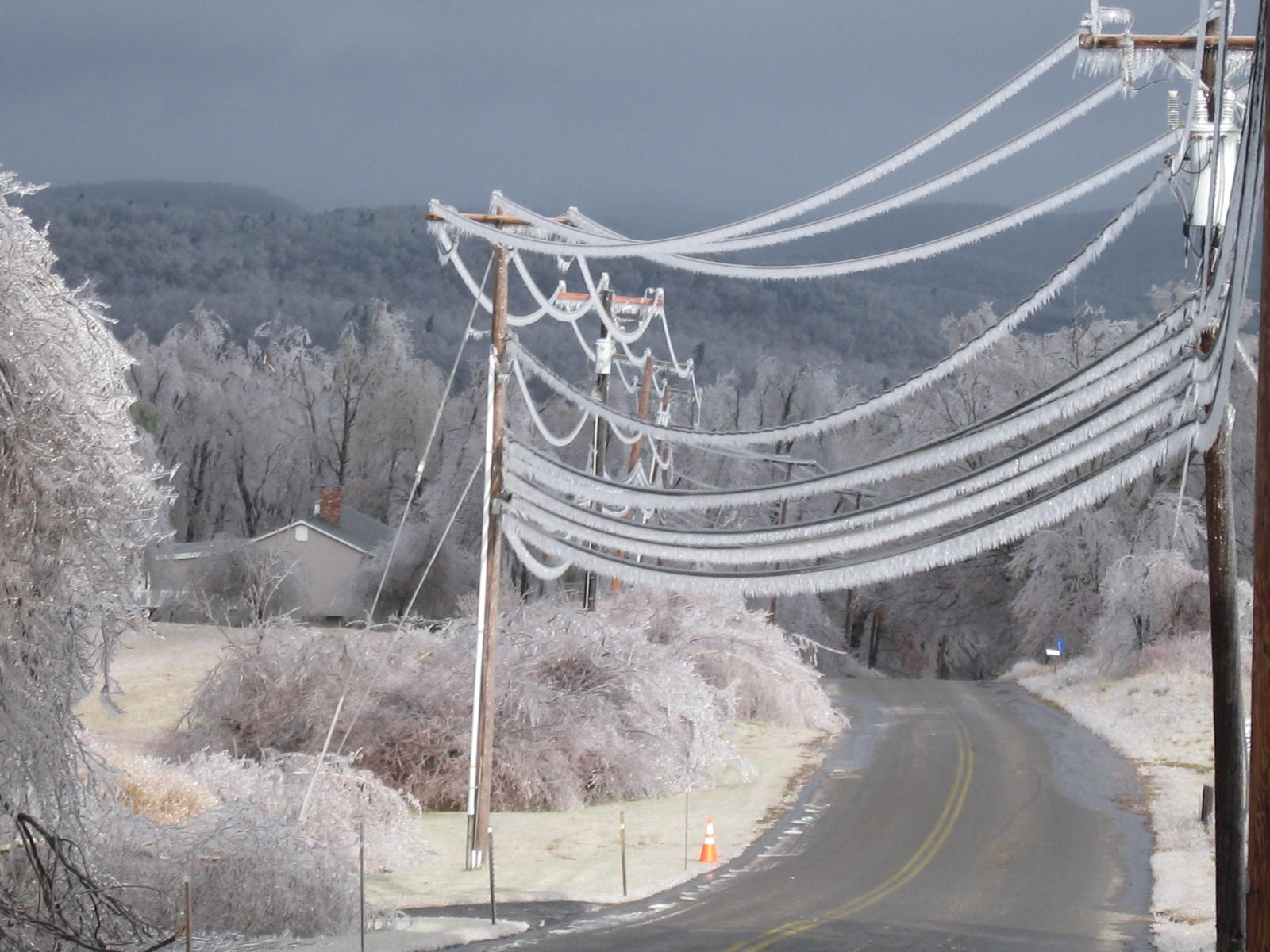 Ice Accumulation on Power Lines