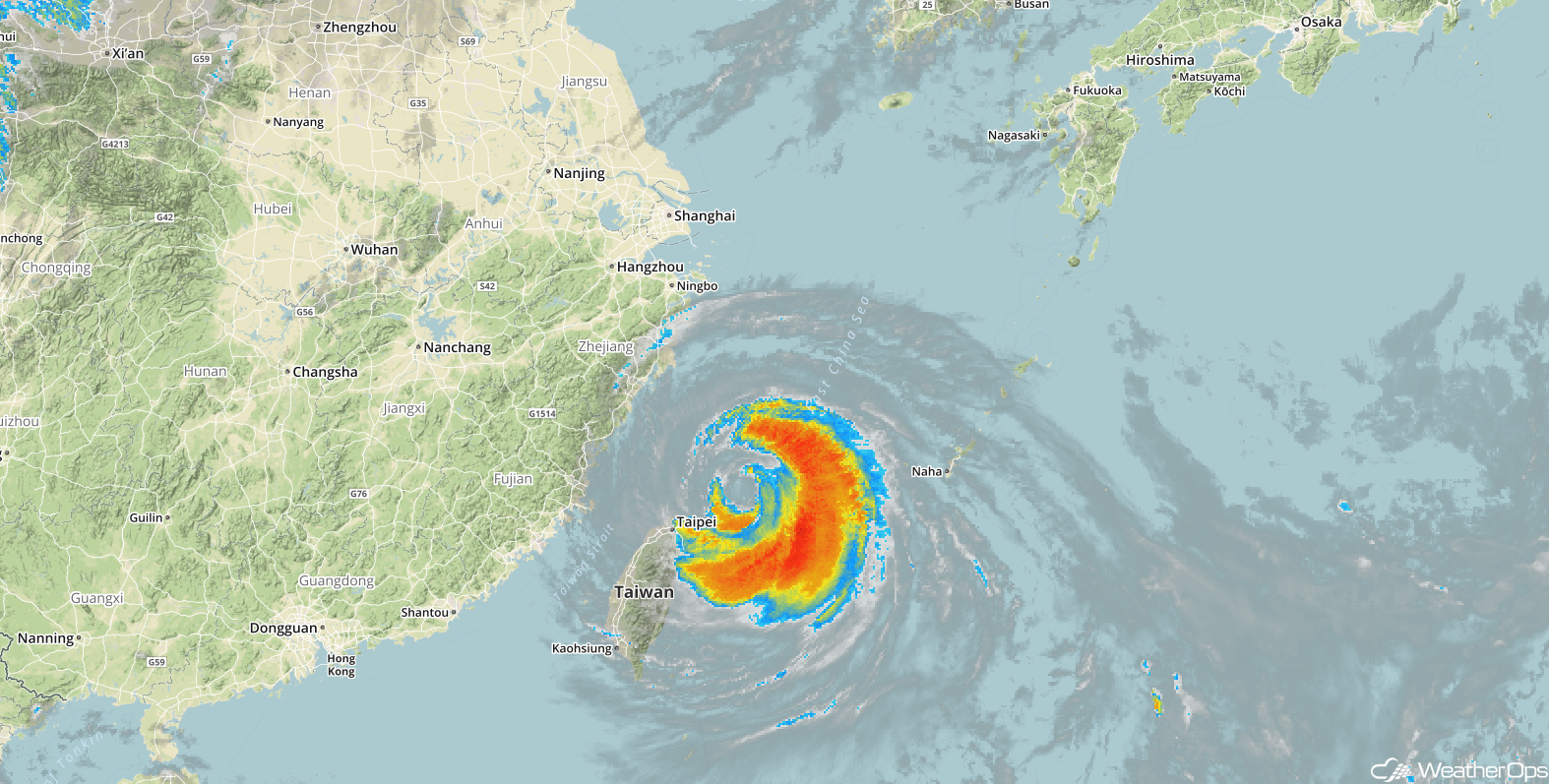 Typhoon Maria Enhanced Infrared Satellite Image