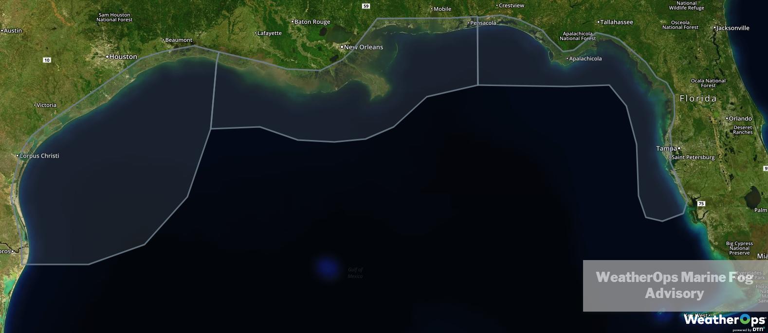 WeatherOps Marine Fog Advisory 2/21/19