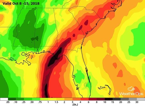 Precipitation Forecast- Valid Oct 8-15, 2018