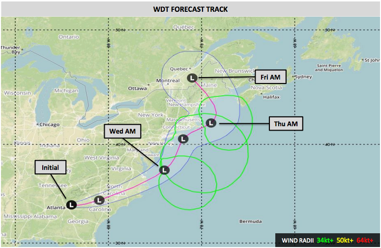 WDT Experimental Nor'easter Forecast - March 6, 2018