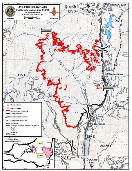Fire Perimeter Map 6/19/18