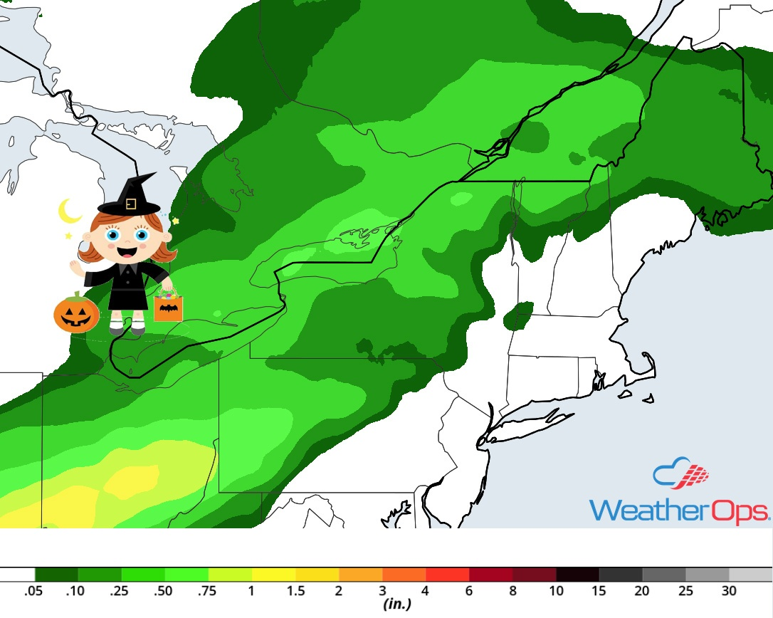 Rainfall Accumulation for Wednesday, October 31, 2018
