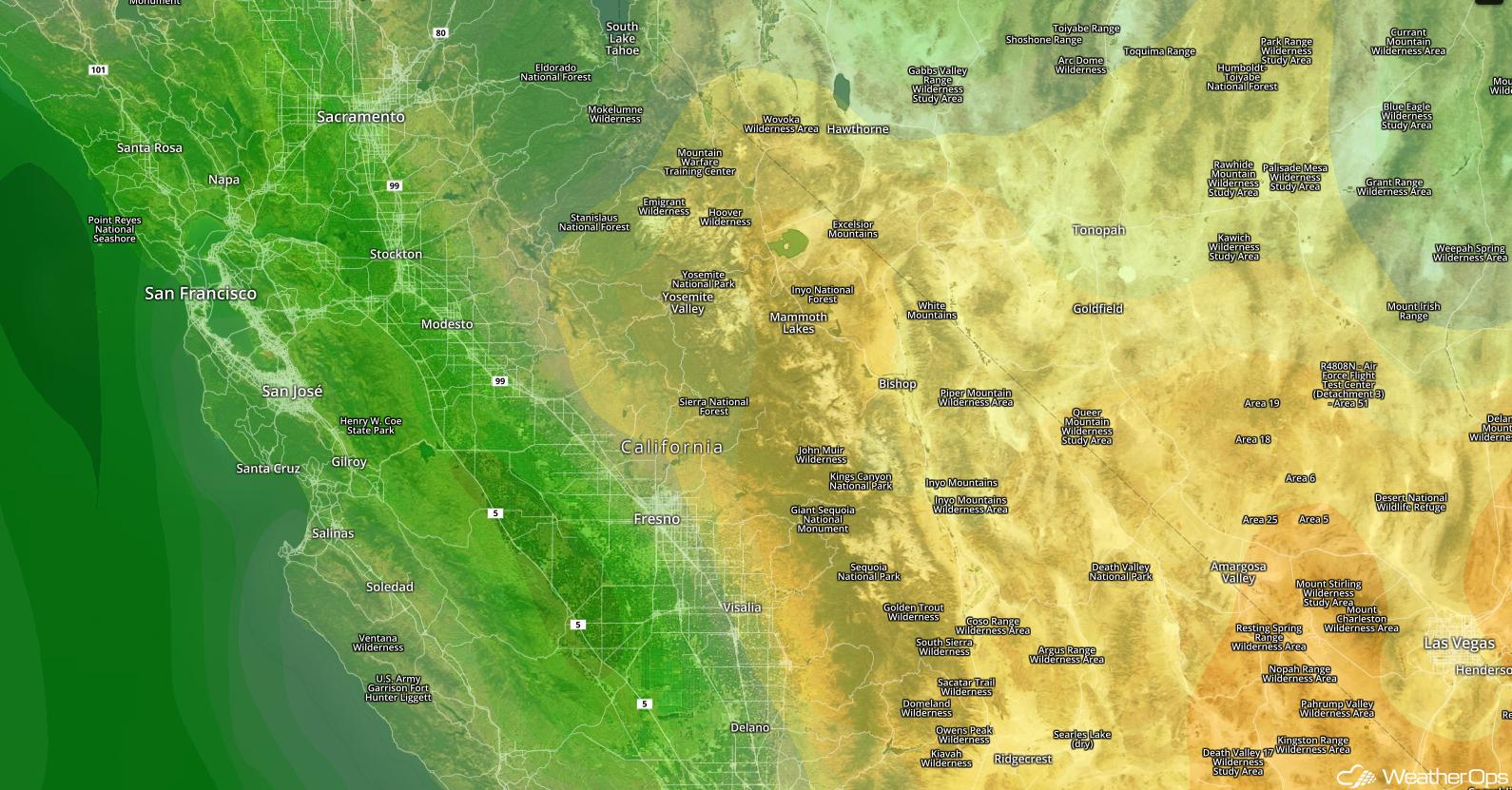 Sierra Nevada Relative Humidity