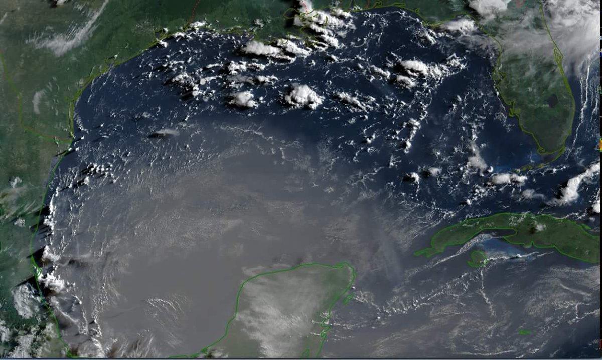 Saharan Dust on Visible Satellite- July 14, 2018