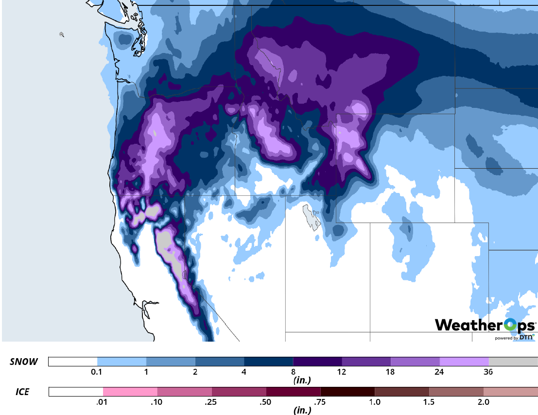 Snow Accumulation February 25-27, 2019