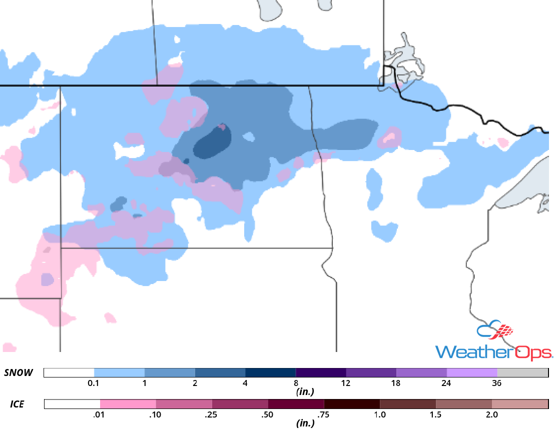 Snow Accumulation for Thursday, October 4, 2018