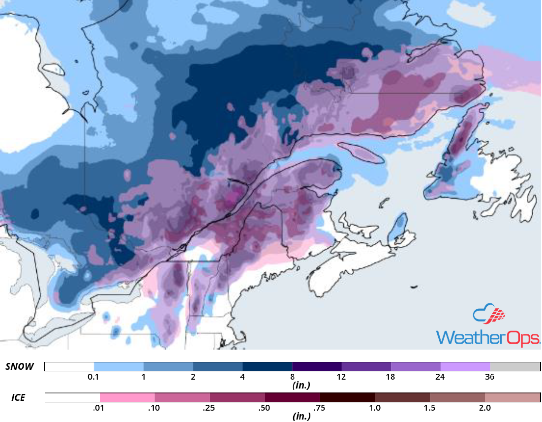 Snowfall Accumulation for October 27-28, 2018