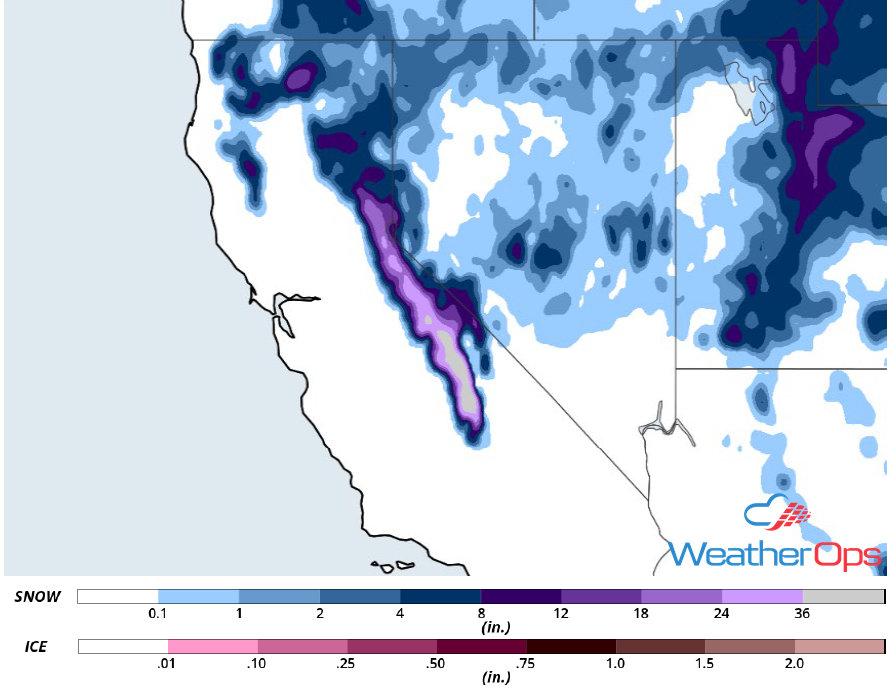 Snow Accumulation for January 16-17, 2019