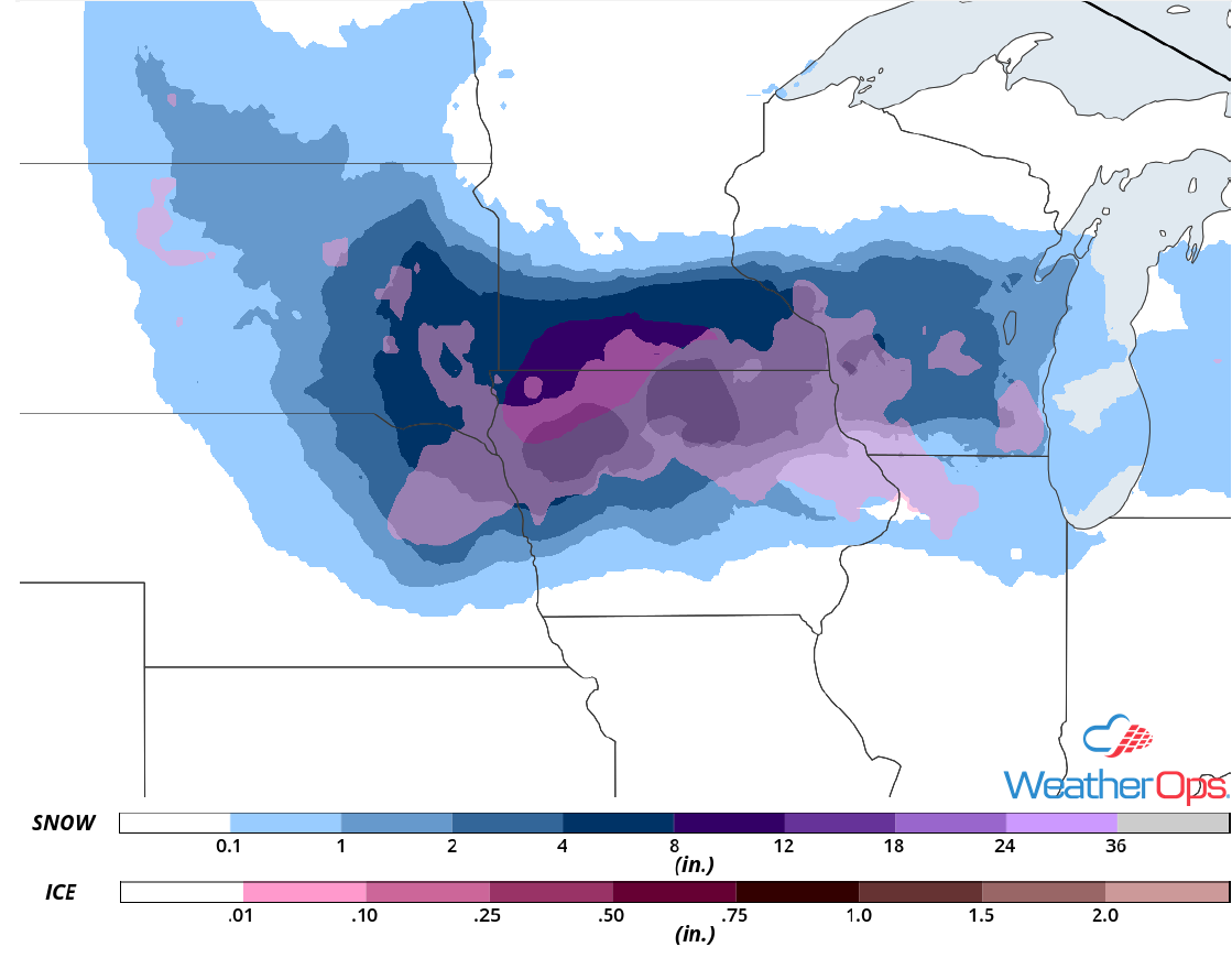 Snow and Ice Accumulation,April 17-18, 2018