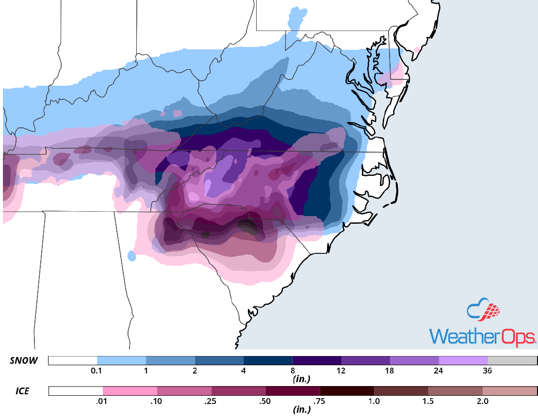 Freezing Rain and Sleet Accumulation for December 8-9, 2018