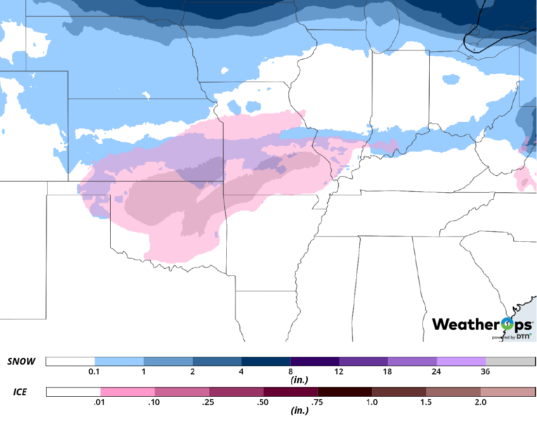 Snow Accumulation for February 26-27, 2019