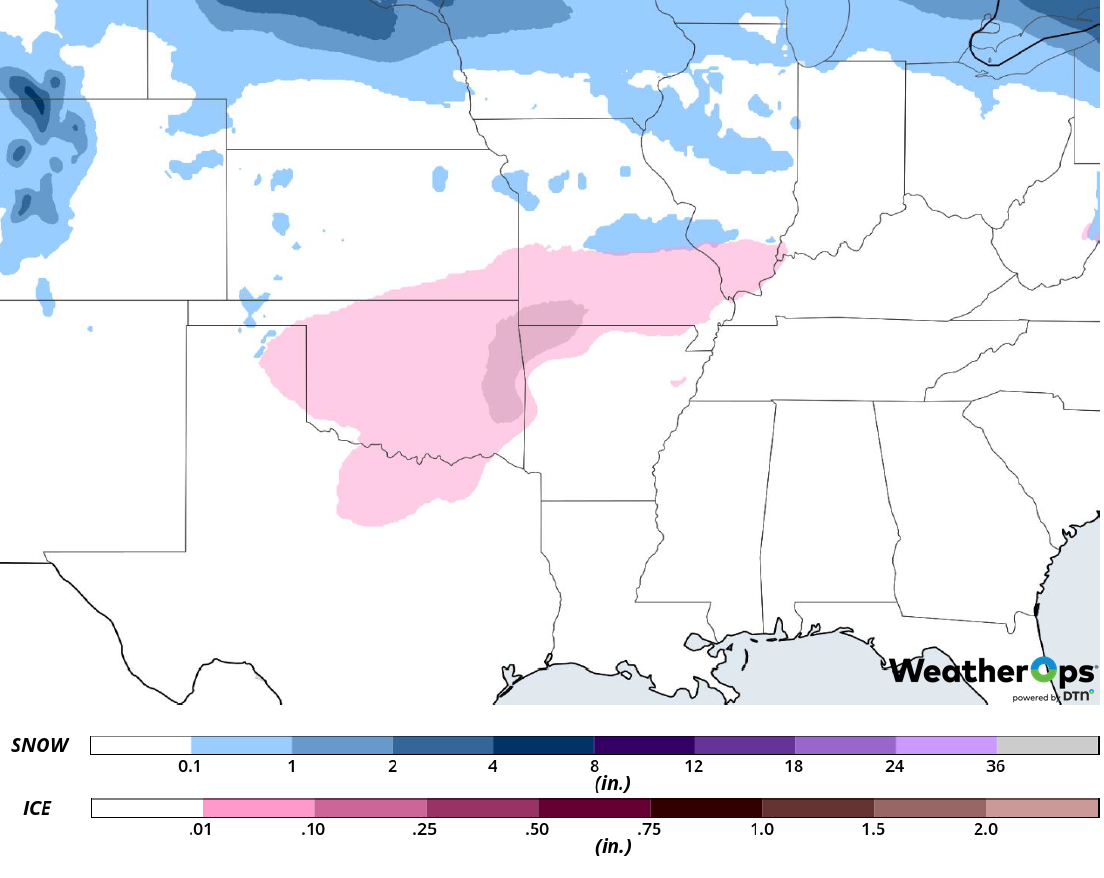 Snow and Ice Accumulation for February 27-28, 2019