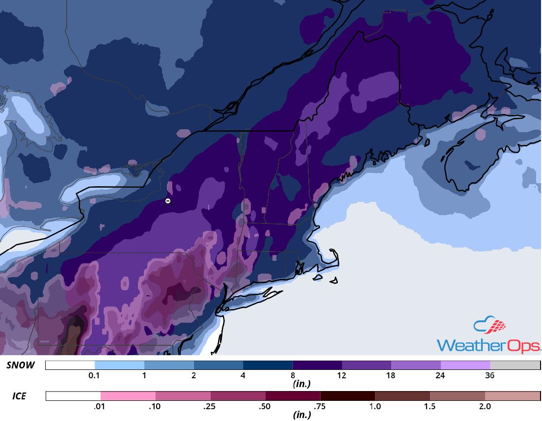 Snowfall Accumulation for November 15-16, 2018