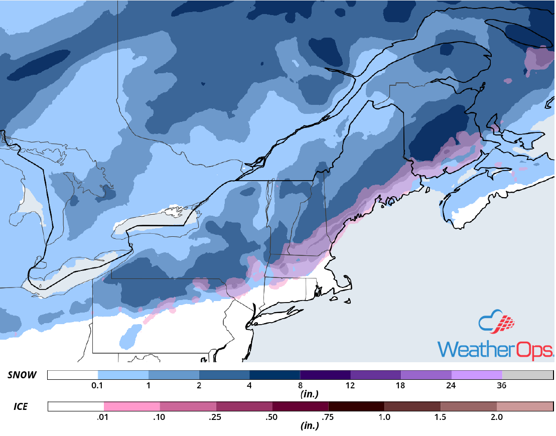 Snowfall Accumulation for November 17-18, 2018