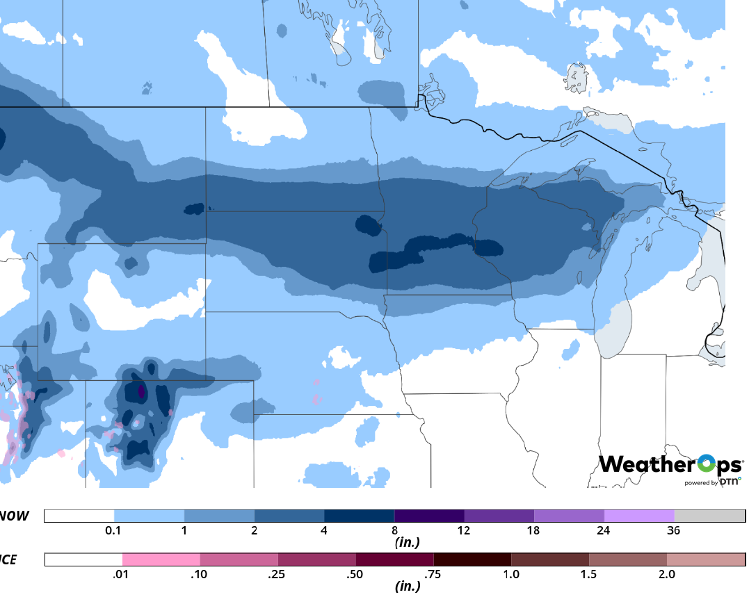 Snow Accumulation for Friday, March 1, 2019