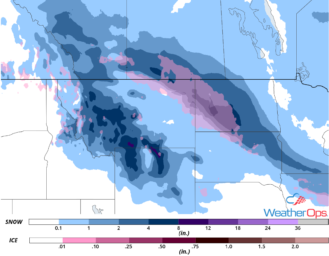 Snow Accumulation for Friday, November 16, 2018
