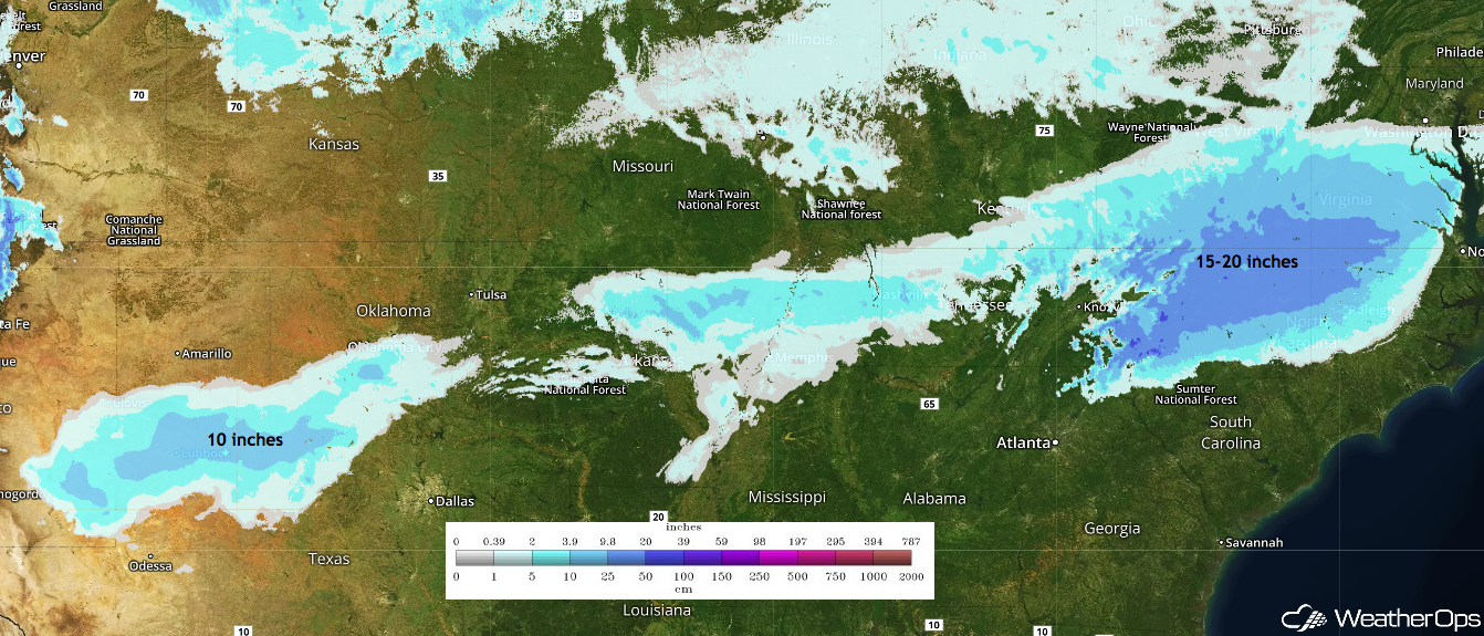 Snow Depth - December 10, 2018