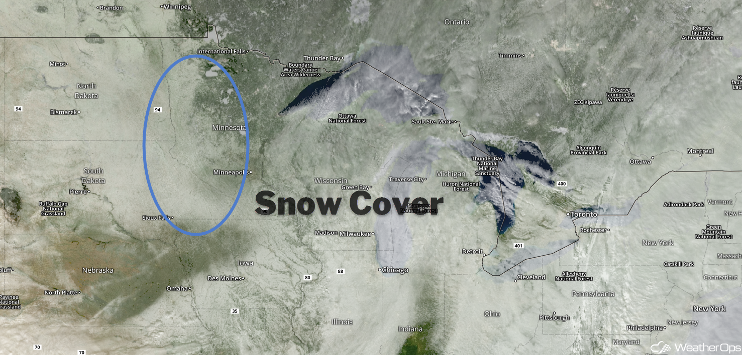 Snow Cover on Visible Satellite Imagery