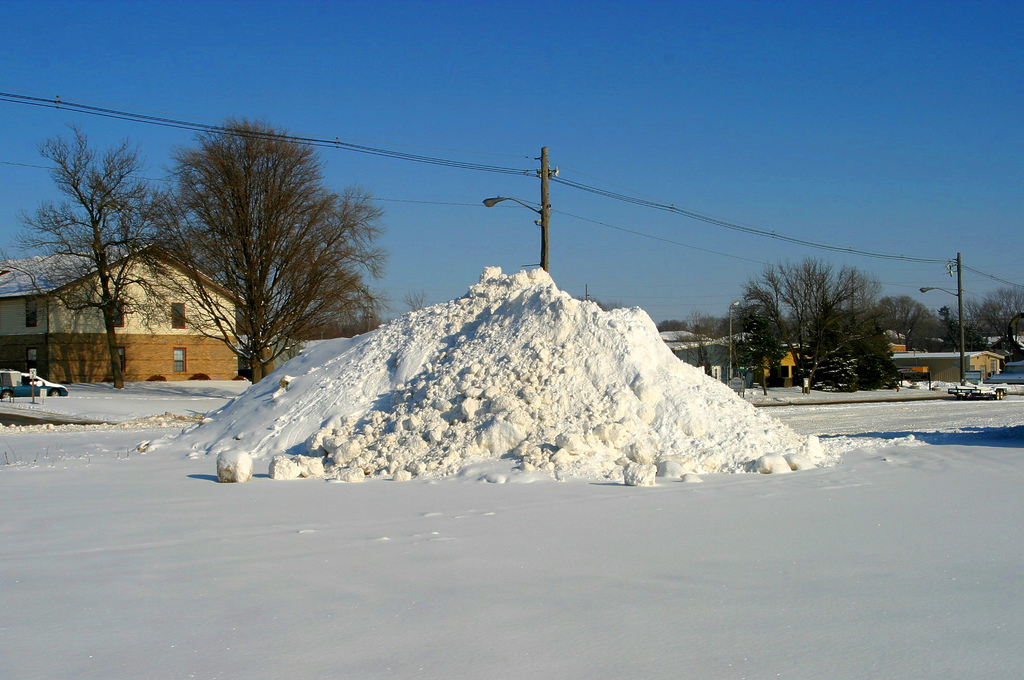 Snow Mound after Streets Have Been Plowed