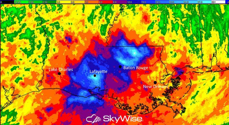 Louisiana Storm Total: Aug 1-16