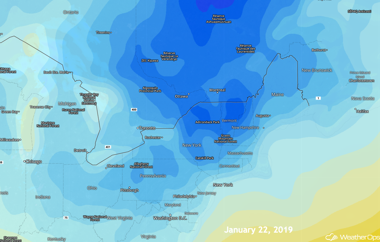 WeatherOps Cold Temps on Jan 22, 2019