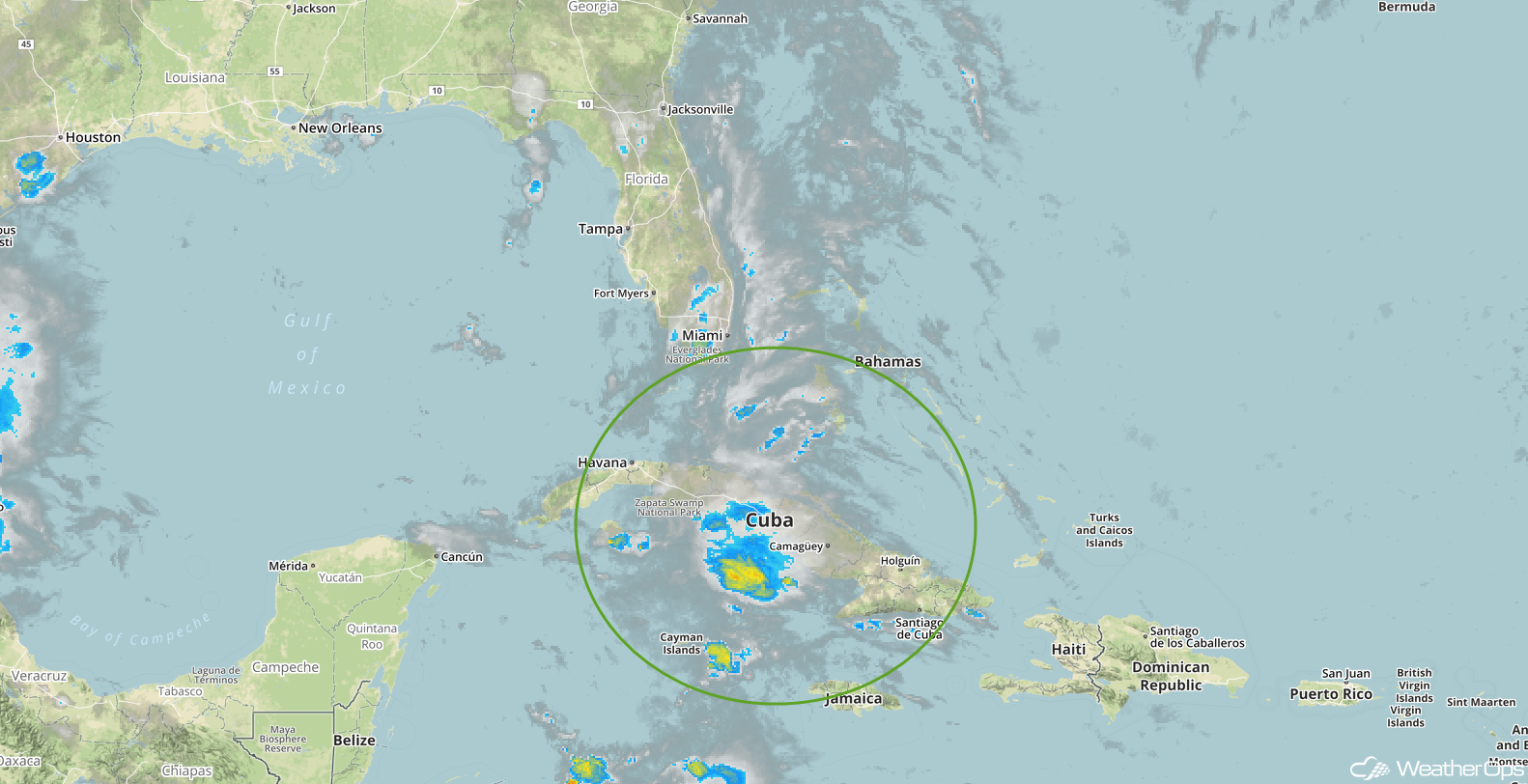 Enhanced Infrared Tropical Satellite 5/21/18