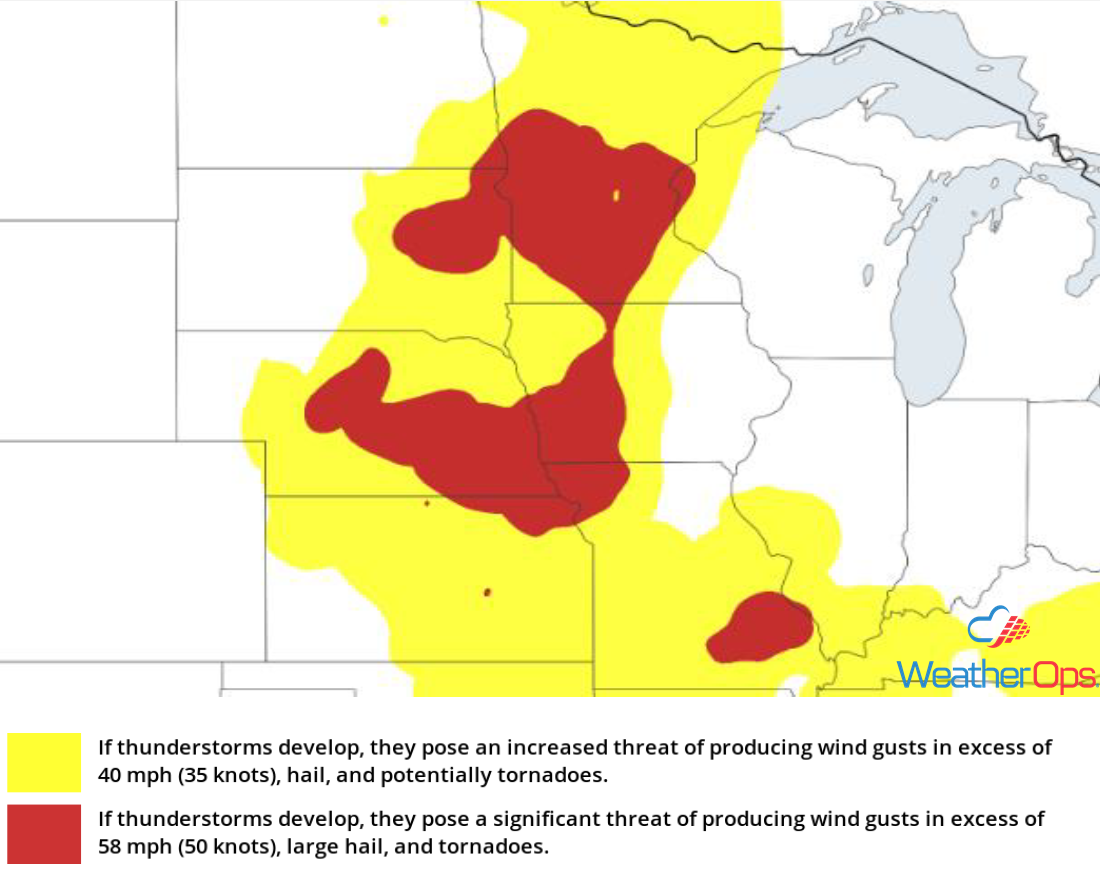 Thunderstorm Risk for Thursday, August 30, 2018