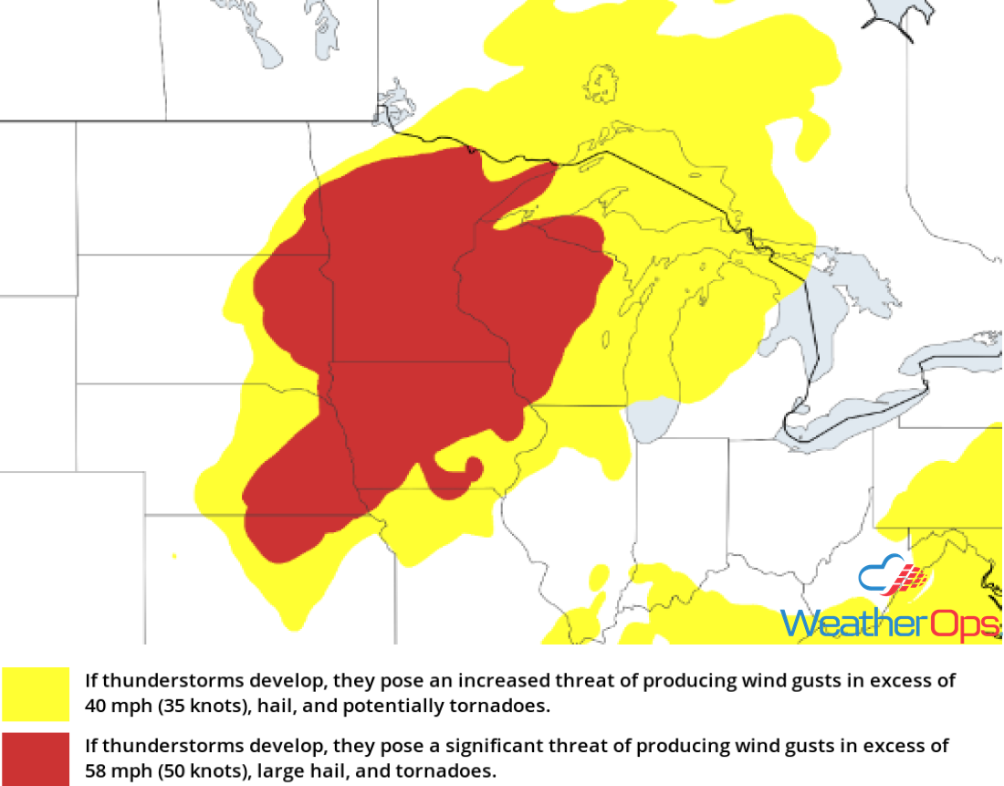 Thunderstorm Risk for Friday, August 31, 2018