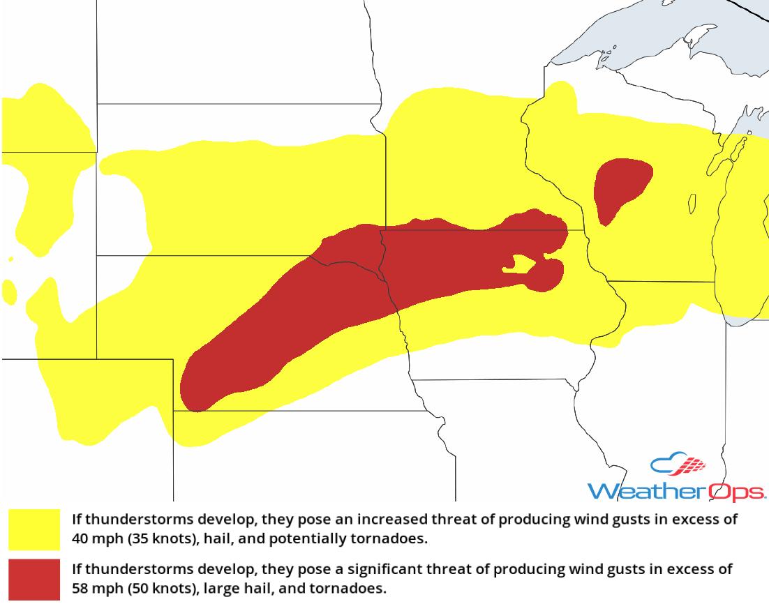 Thunderstorm Risk for Wednesday, September 19, 2018