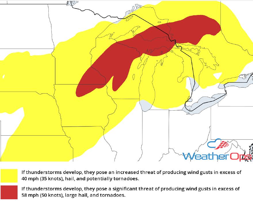 Thunderstorm Risk for Thursday, September 20, 2018