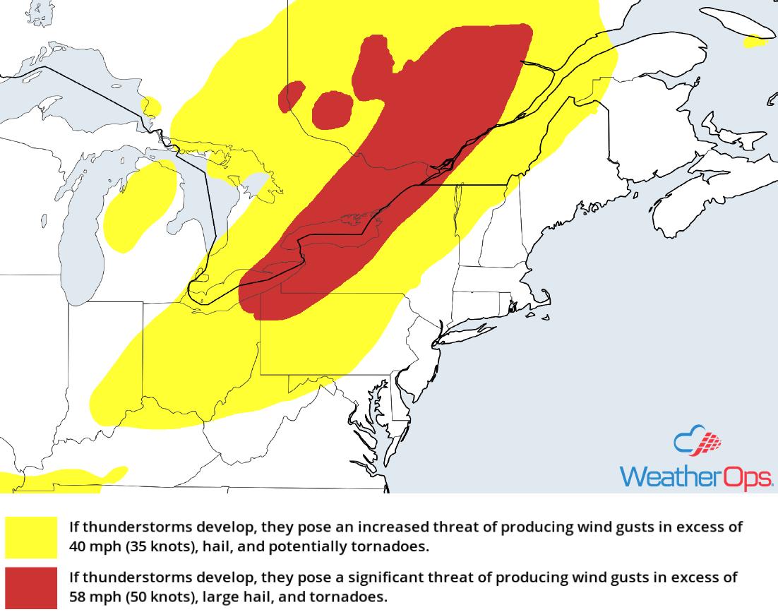 Thunderstorm Risk for Friday, September 21, 2018