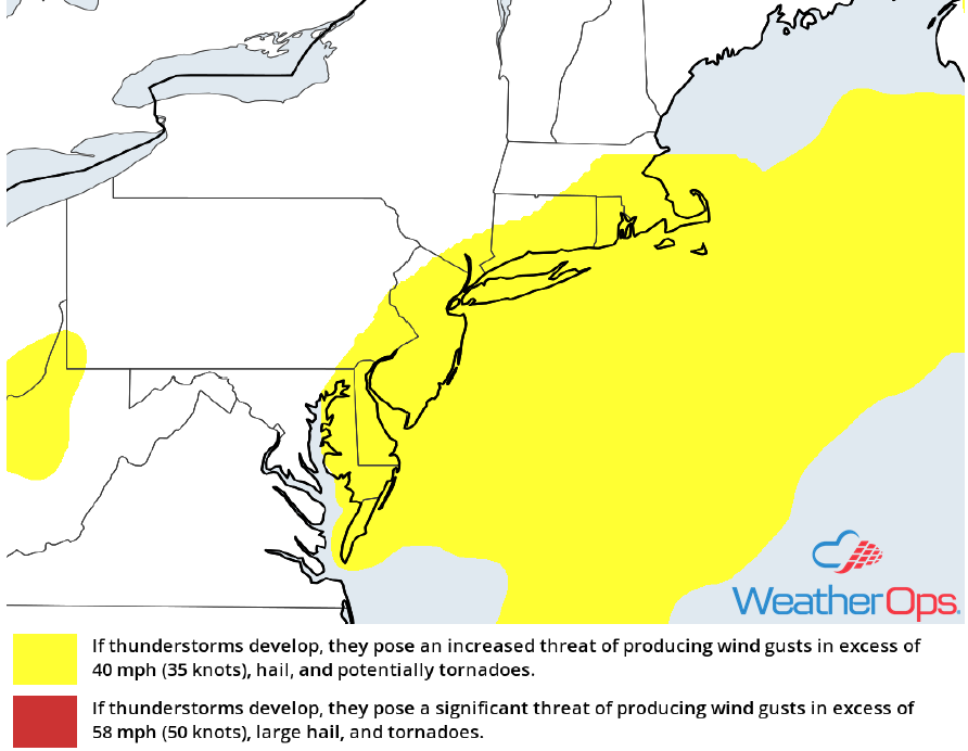 Thunderstorm Risk for Monday, October 15, 2018