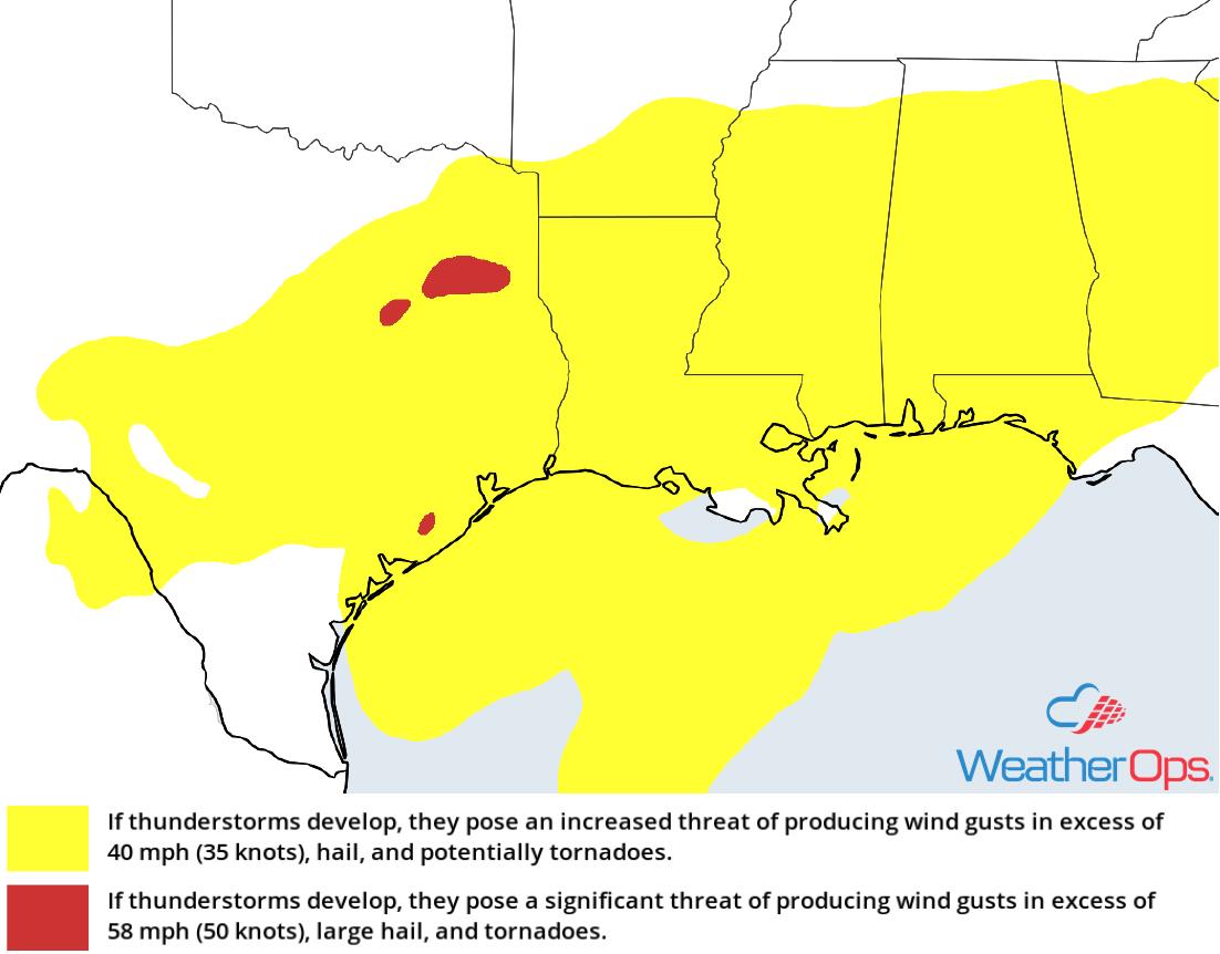 Thunderstorm Risk for Wednesday, November 7, 2018
