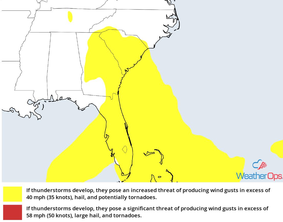 Thunderstorm Risk for Monday April 23, 2018