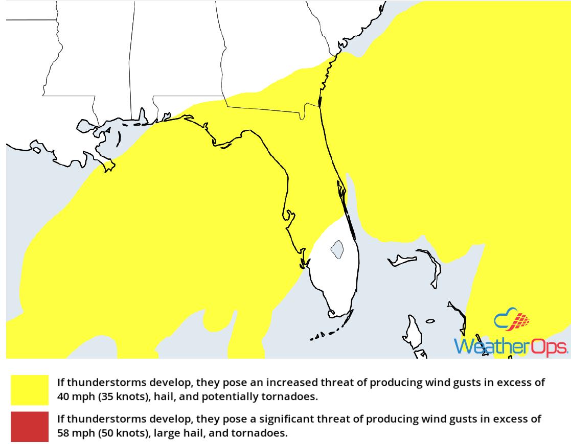 Thunderstorm Risk for Monday, December 3, 2018