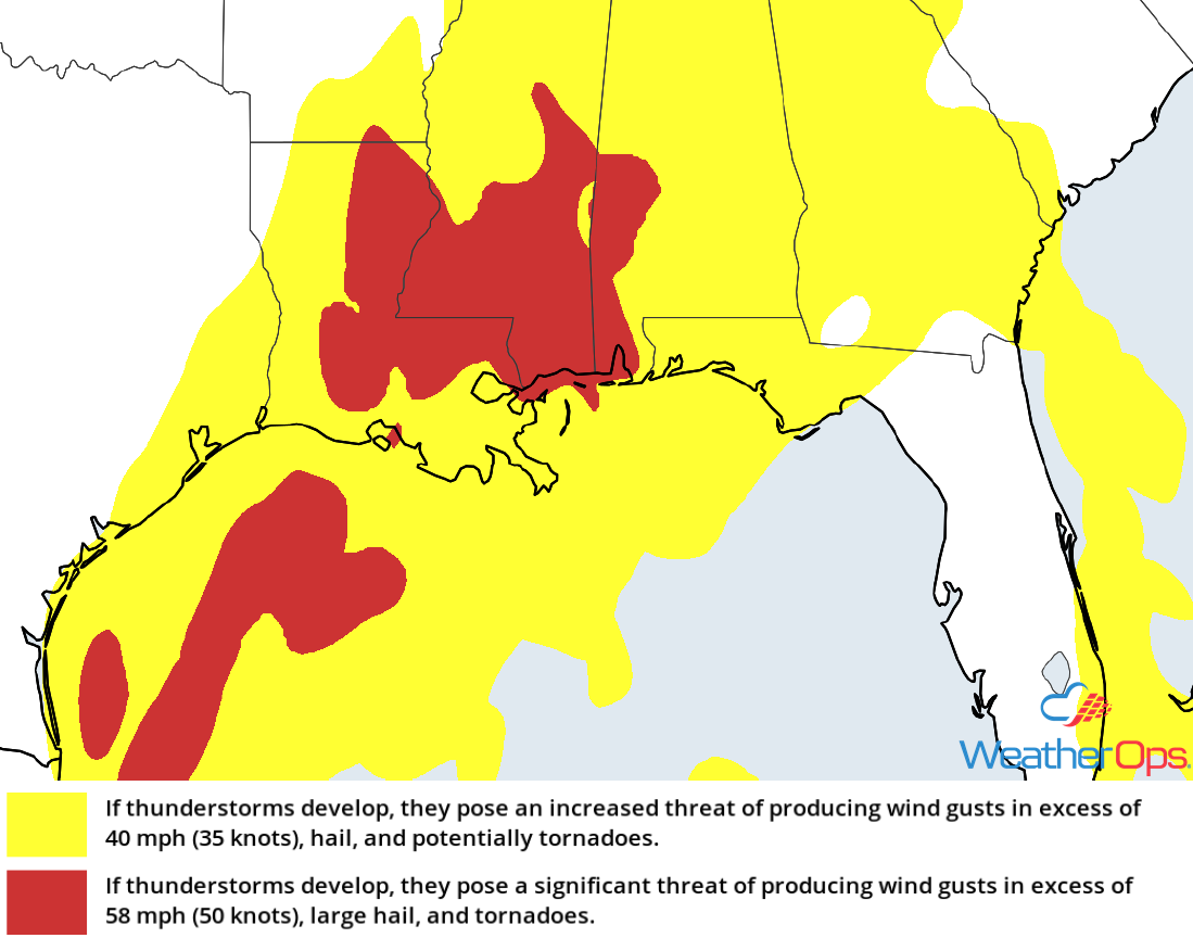 Thunderstorm Risk for Thursday, December 27, 2018